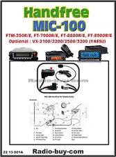 MIC-100 U Handfree for Yaesu FTM350/FT7900/FT8900/FT1900/2900,FTM400,FTM100/3200
