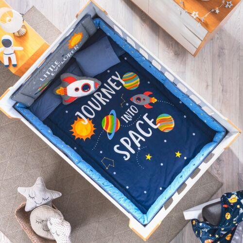 GALAXY BABY BOYS CRIB BEDDING SET NURSERY 6 PCS FOR BABY SHOWER GIFT