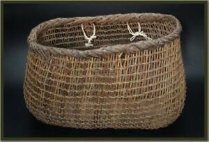VG90-Japanese-old-rattan-woven-with-vine-and-akebi-vine-basket-wicker-basket