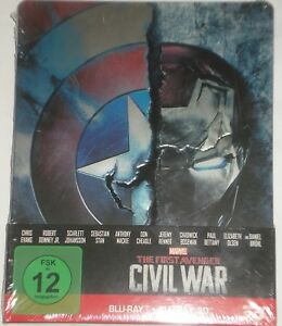 Marvel-039-s-The-First-Avenger-Civil-War-Blu-Ray-3D-2D-Steelbook-2-Disc-Edition