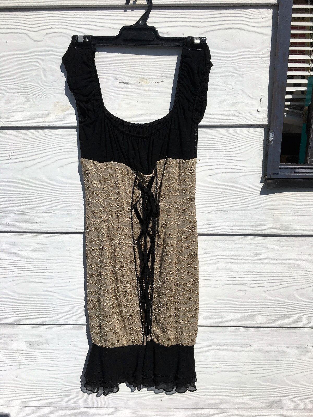 Wheels & Dollbaby schwarz and cream dress in Größe 2