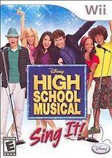 Wii High School Musical Sing It Video Game- Nintendo Wii ~ COMPLETE Disney WII