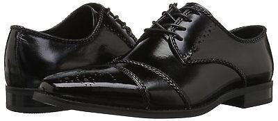Stacy-Adams Men/'s RAIMONDO CAP TOE OXFORD Black Leather Shoes 25115-001