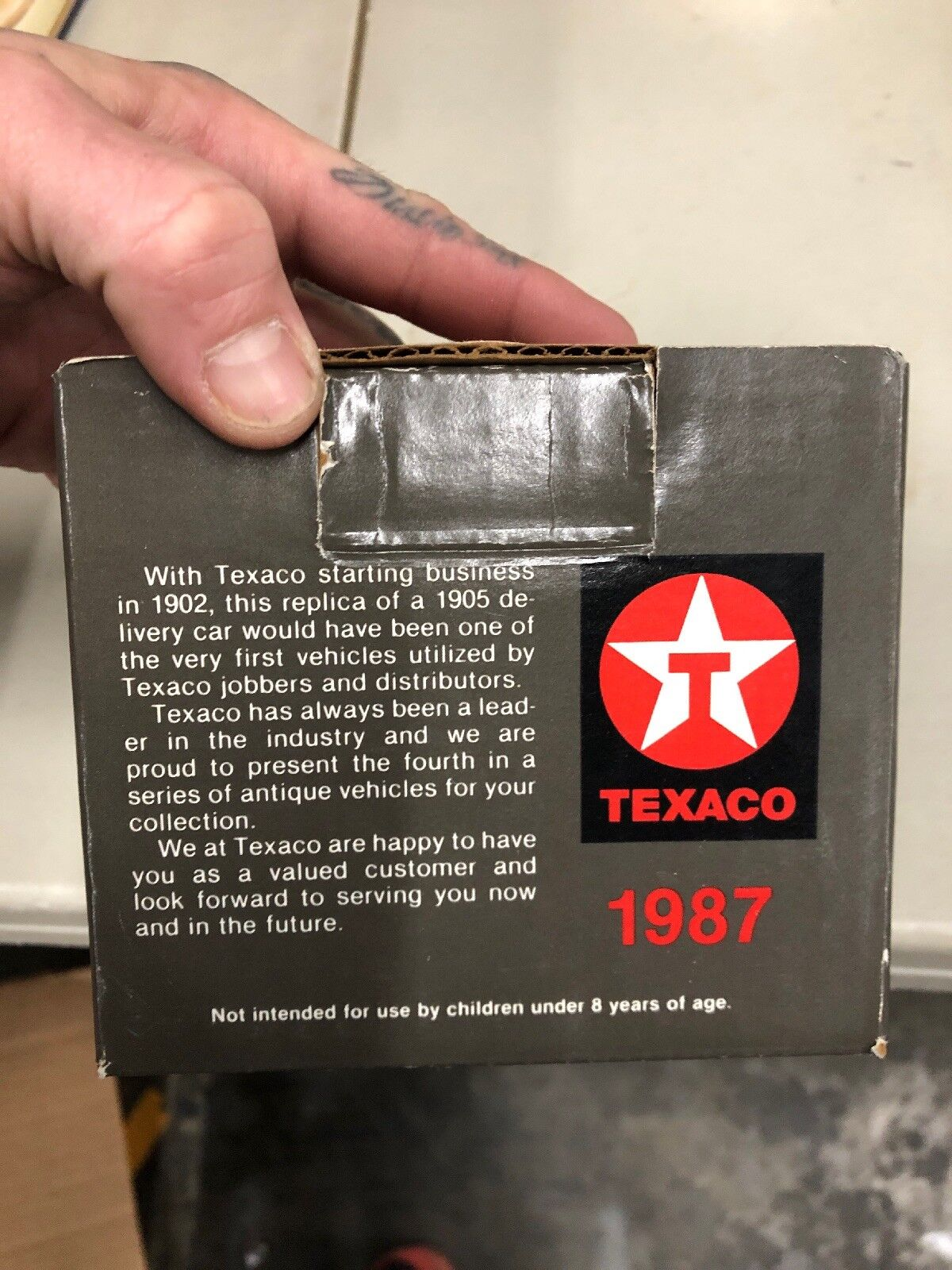 "Ertl Texaco 1905 Ford Delivery Car ""The ""The ""The Texas Petroleum "" Nostalgic  1987 8a24d3"
