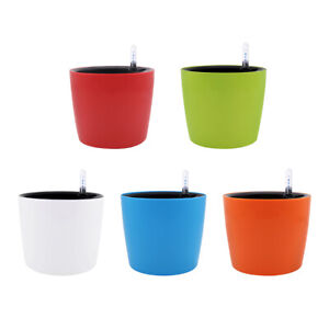 7''H Self-Watering Garden Planter for for House Plants Flowers Herbs Violets