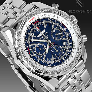 Breitling bentley motors ss 48mm special edition blue dial for Breitling bentley motors special edition a25362