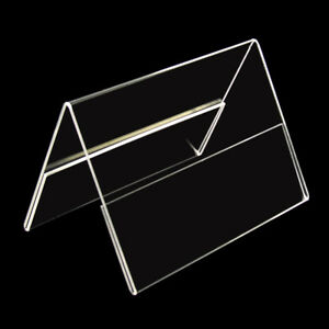 6 X Présentoir Support Prix Toit Display Stand Up Din A7 Transversal Acrylique