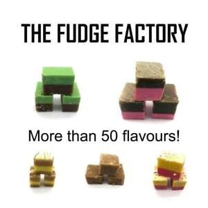 Diligent Le Fudge Factory Luxe Finest Hand Crafted Fudge Cubes Anglais Sweet Handmade-afficher Le Titre D'origine MatéRiaux De Haute Qualité