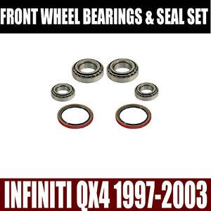 Fits-Infiniti-QX4-Front-Wheel-Bearings-Seals-Set-1997-2003