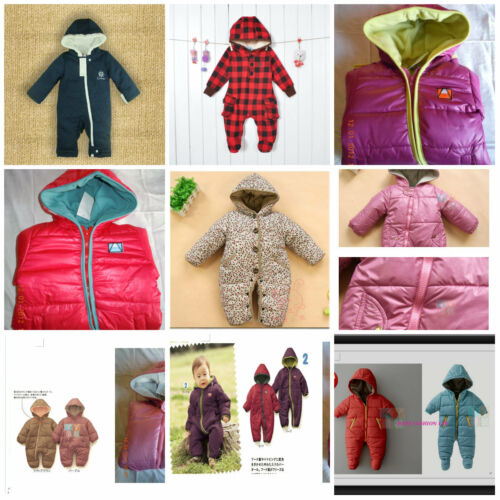 BABY Toddler Winter Snowsuit Jacket playsuit Size 3-24months.Zip Up Hooded.Coat.