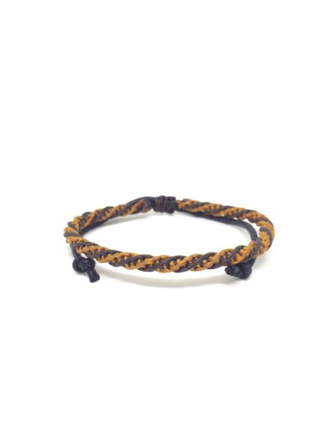 Brown Wax Cotton Cord Classic Thai Buddhist Wristband Handcrafted Wristwear