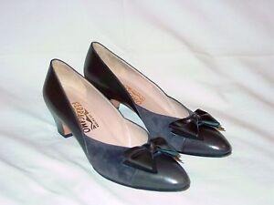 de Zapatos lujo ante con para 8 Aa Ferragamo cuero de Salvatore y tacón de mujer gris de cordones qrrwpISx