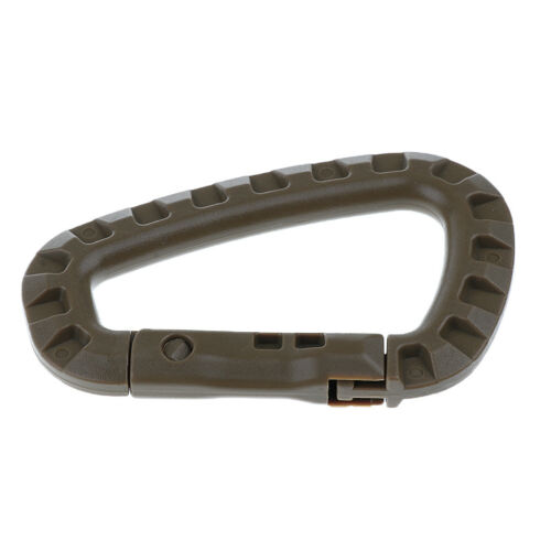 6x Tactical D-Ring ABS Quick Release Spring Carabiner Utility Key Chain Hook