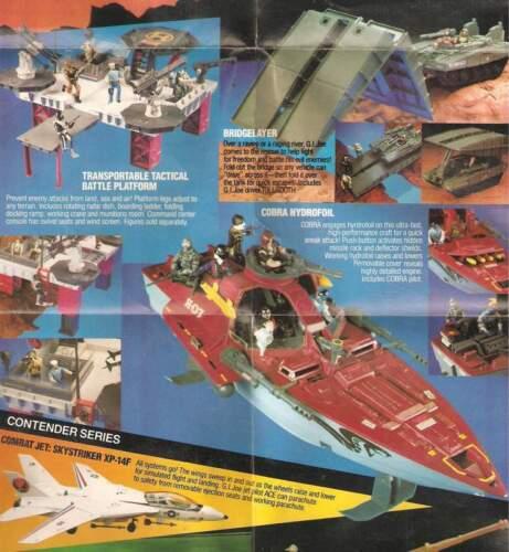 1985 GI Joe figure//vehicle CATALOG insert USS Flagg Cobra Dreadnoks JTC P245