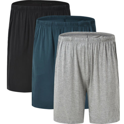 Mens Modal Home Sleepwear Pajamas Soft Comfortable Lounge Casual Short Pants