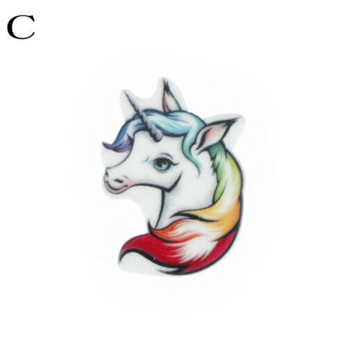 10pcs Flat back resina cabuchon resina Unicorn DIY Decor Craft EmbellishmSE