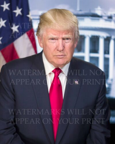 Donald Trump official White House photo CHOICES two 5x7s or request one 8x10 or