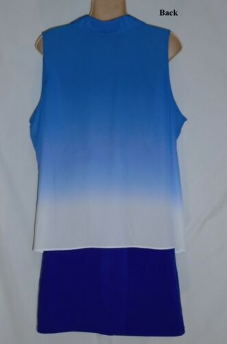 dye I nwt To blue Blouse 60 International c Tie White n Concepts size 16 FY6qH1wZY