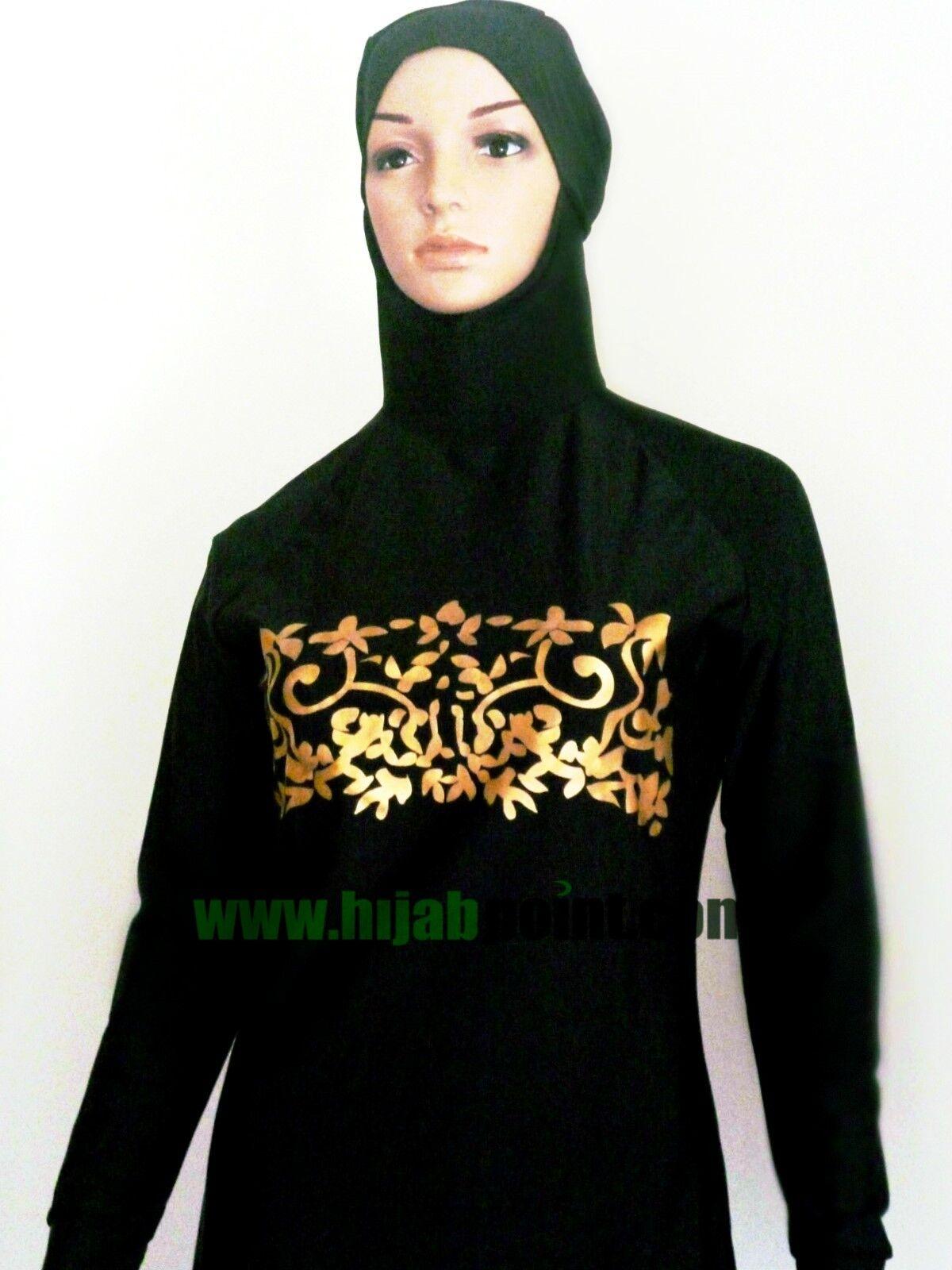 Ladies Modest Muslim Burqini Two Piece Beachwear Swimsuit Swimwear Islamic Girls