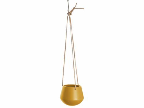 present time Skittle hängender Blumentopf in Ockergelb Ø12cm