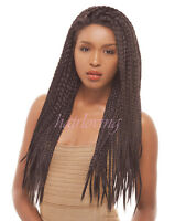 Skinny Box Braid Lace Wig, Femi Collection Premium Synthetic Kanekalon/toyokalon