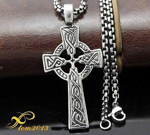 men irish celtic cross ireland pendant necklace titanium. Black Bedroom Furniture Sets. Home Design Ideas