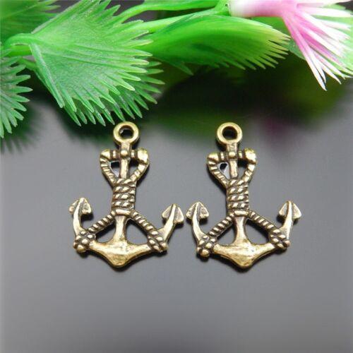 51535 Antiqued Bronze Boat Anchor Shape Alloy Pendant Jewelry Accessory 58pcs