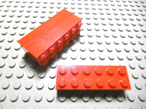 Lego 3 Basic Steine 2x6 hoch rot  2456 Set 7065 7978 7930 6864