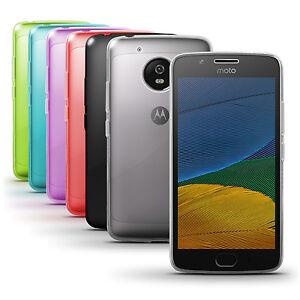 release date 2ca12 25c93 Details about Glossy TPU Gel Case Skin for Motorola Moto G5 Bumper Soft  Cover Screen Protector
