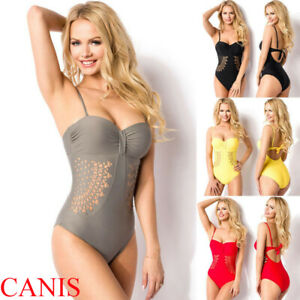 71420ce5f3 One Piece Bandage Push up Monokini Bikini Women's Swimwear Swimsuit ...