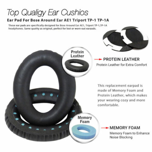 Ear Pads Cushion Replacement for Bose QuietComfort Headband QC15 25 35 AE2 QC2