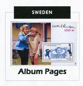 Sweden-CD-Rom-Stamp-Album-1855-2017-Color-Illustrated-Album-Pages