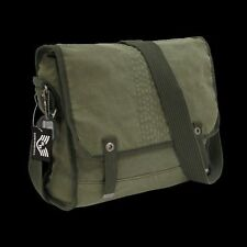 Tactical US Military Vintage Shoulder Messenger Bag OD Olive Courier Satchel R33