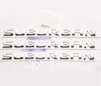 2x OEM Red SUBURBAN Nameplate EMBLEMS Letter for GM  Chevrolet Glossy UW