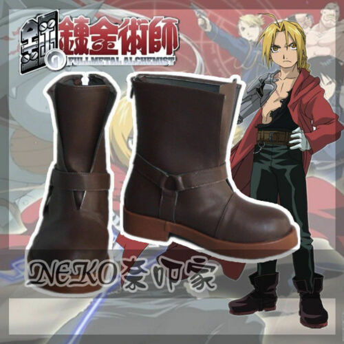 a Edward Elric Fullmetal Alchemist Cosplay Shoes High Boots Custom-made