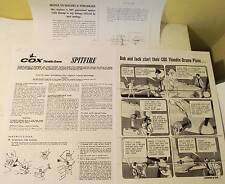Cox Spitfire Photocopies 4 Page Instruction Sheet, Flying Instr. Cartoon, +More