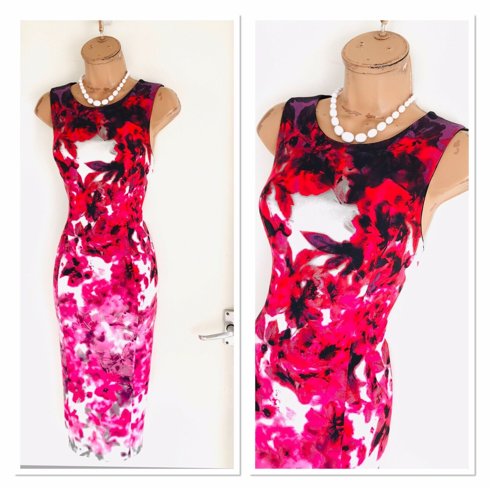 Stunning JOSEPH RIBKOFF Colourful Floral Stretch Bodycon Dress Uk Größe Größe Größe 10 e340bf