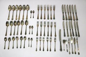 61-Besteckteile-800-Silber-WMF-Chippendale-2100