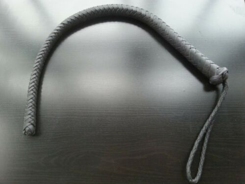 Short Whip Leather Nagaika Of The Russian Cossacks With A Steel Cable Inside