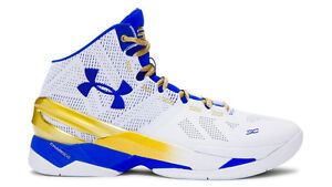 quality design 42cd4 edfab Details about Under Armour Stephen Curry 2 Gold Rings NBA Finals PE Size  11. Dub Nation MVP