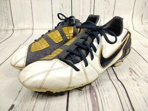 conseguir baratas variedades anchas mitad de descuento Mens Nike T90 Total 90 Shoot III L-FG Football Boots White Gold ...