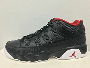 Nike Air Jordan Retro 9 Low Bred Black Red Bg Gs 833447 001 55 7 1
