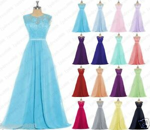 Stock-New-Lace-Evening-Formal-Party-Ball-Gowns-Prom-Bridesmaid-Dresses-Size-6-24