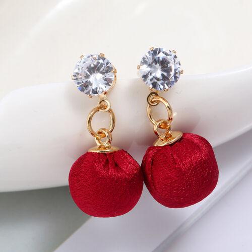 Fashion Womens Lady Crystal Earrings Ear Stud Ball Dangle Drop Statement Jewelry