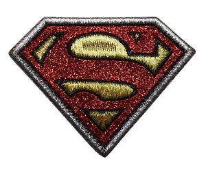 SUPERMAN EMBROIDERED PATCH DC COMICS IRON ON