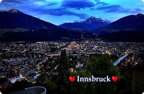 bei Nacht Kühlschrankmagnet,Magnetschild,Magnet-Motiv:Innsbruck II