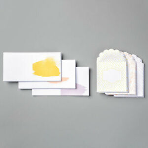 pack of 20 Stampin Up Whisper White Narrow notecards