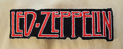 LED ZEPPELIN Red + White  Iron On Sew On Embroidered Patch Rock Band