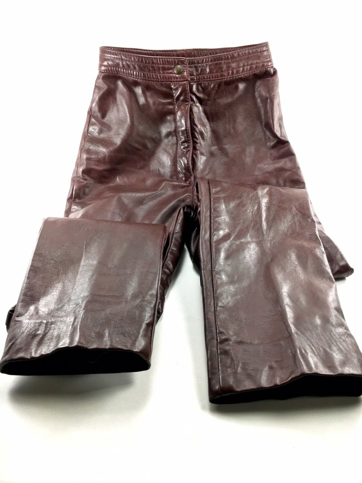 Ladies THE LEATHER RANCH WEAR Brown Leather Pants XSMALL