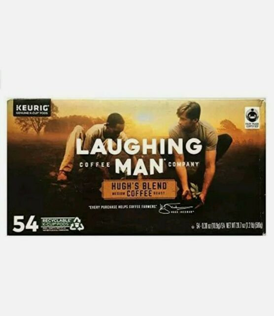 Laughing Man Coffee Co Hugh's Blend K-Cups (54 Count) Exp. Date 10/10/22 Medium